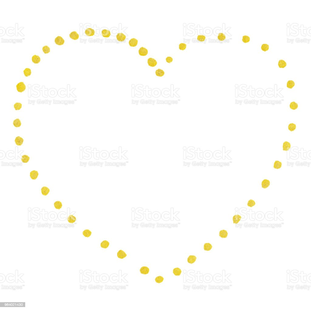 Golden isolated dot heart Saint Valentine's Day - Royalty-free Abstract stock illustration