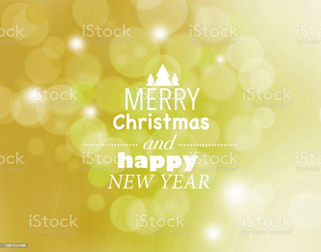 Oro feliz Navidad y feliz año nuevo tarjeta - ilustración de arte vectorial