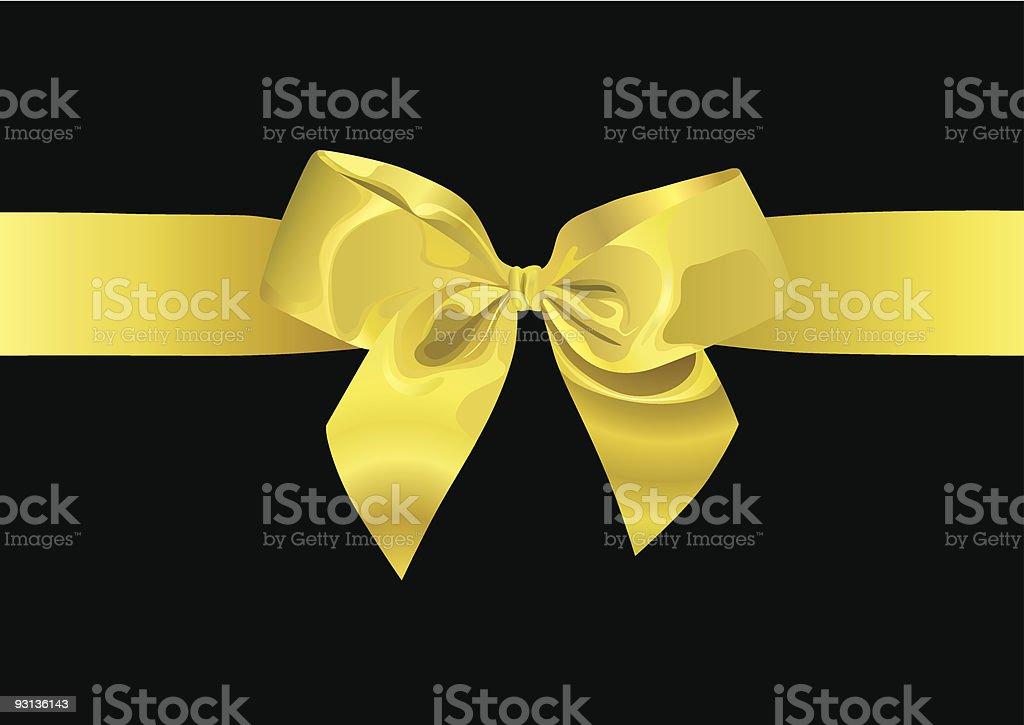 Golden Ribbon (vector + XXL jpg in ZIP folder) royalty-free stock vector art