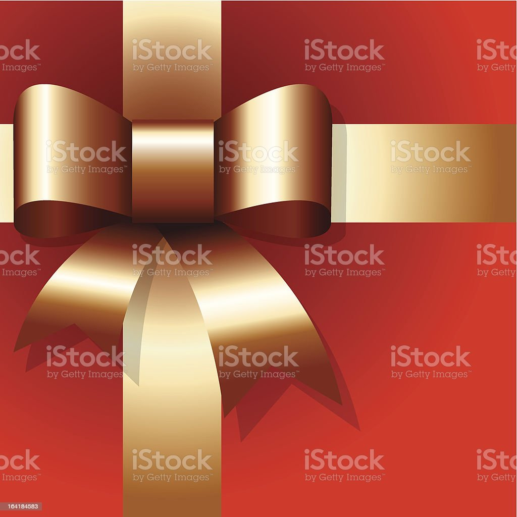 Golden ribbon on red background royalty-free golden ribbon on red background stock vector art & more images of abstract