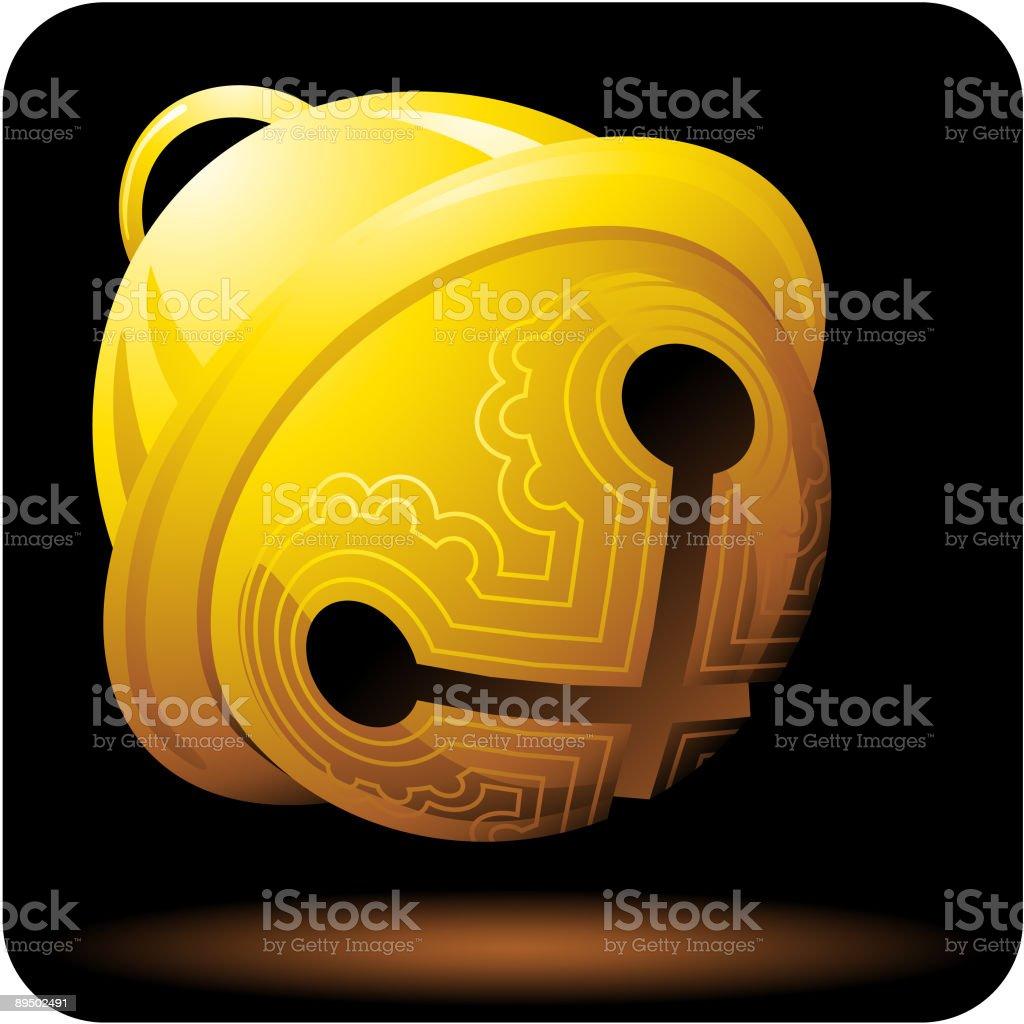 Golden Sleigh Bell royalty-free golden sleigh bell stock vector art & more images of bell