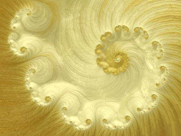 Golden Spiral Abstract Luxury Glossy Gold Swirl Pattern vector art illustration