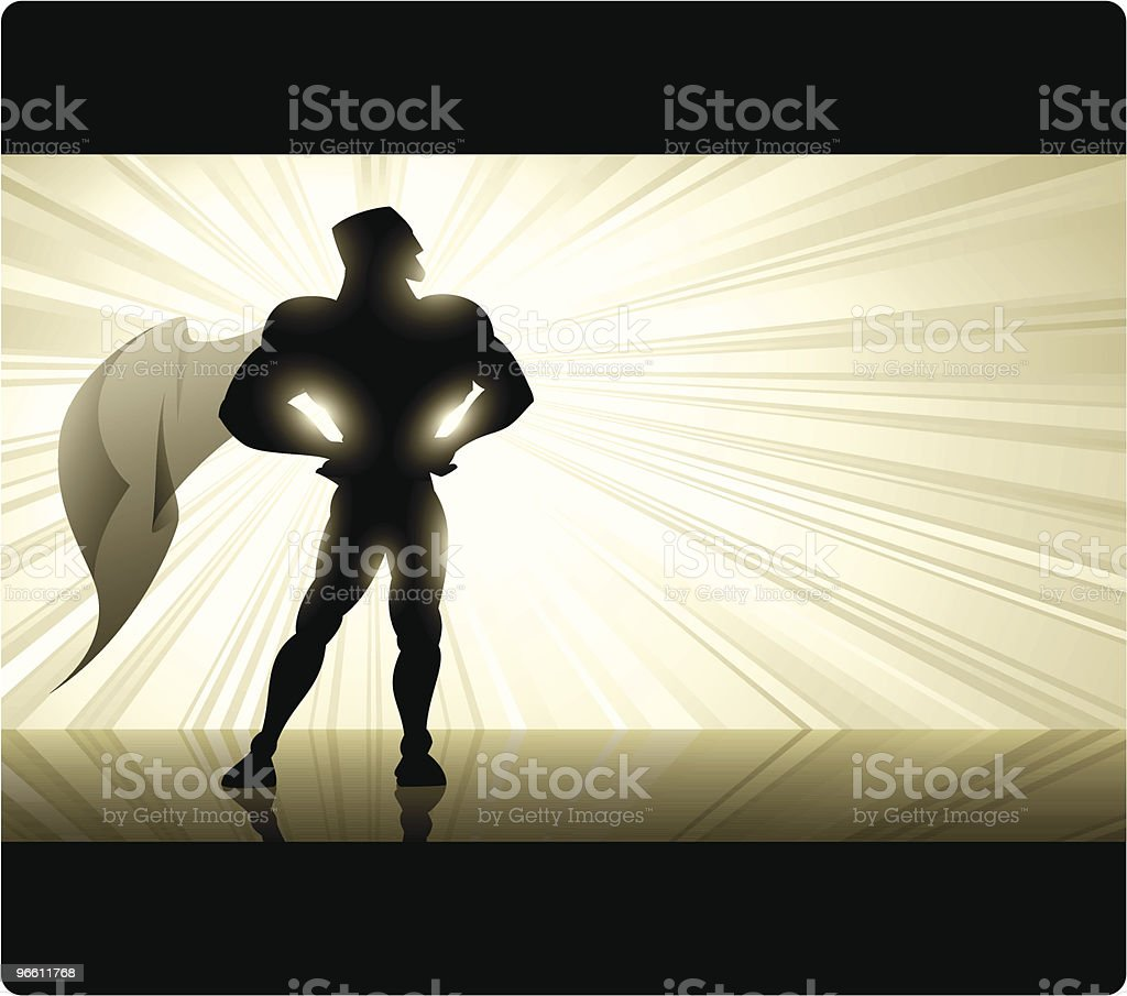 Golden Superhero - Royalty-free Adult stock vector