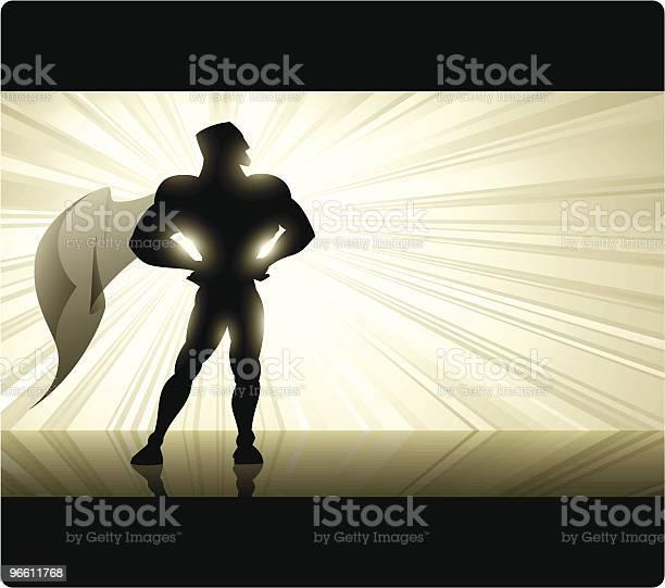 Golden Superheld Stock Vektor Art und mehr Bilder von Breitwandformat