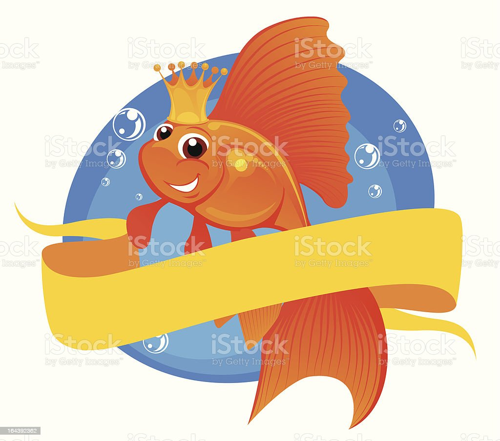 Goldfish and banner royalty-free stock vector art