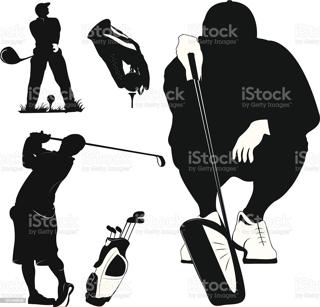 Golf and golfers royalty-free golf and golfers stock vector art & more images of abstract