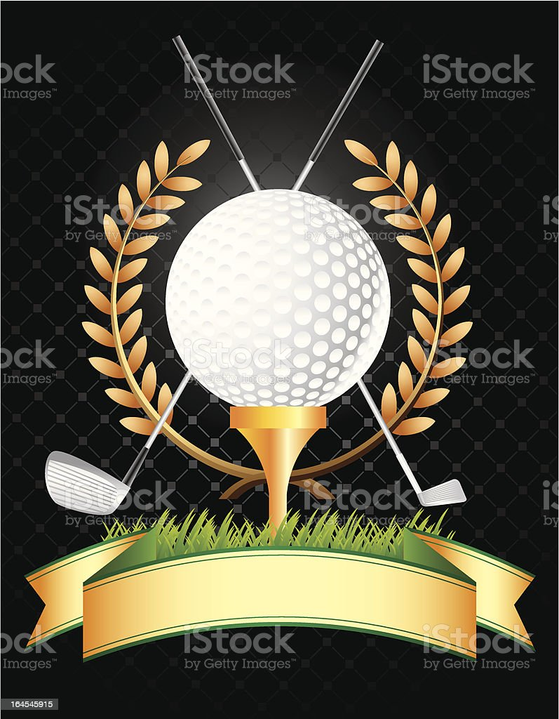 Golf Background royalty-free stock vector art