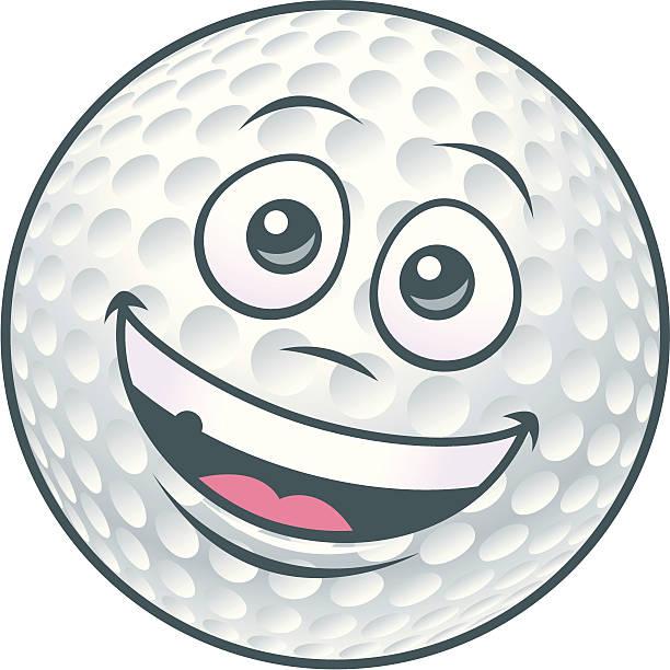 Golf Ball Cartoon Character vector art illustration