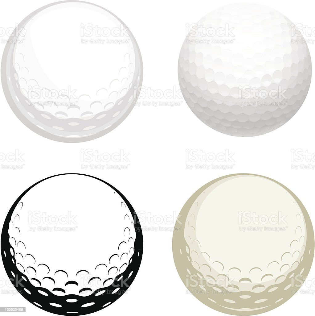 Golf ball vector art illustration