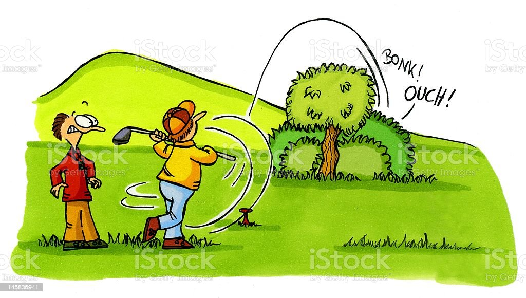Royalty Free Funny Golf Cartoon Clip Art Vector Images