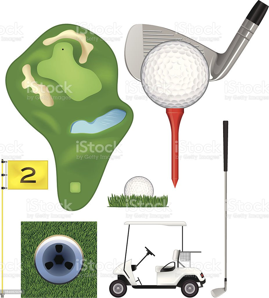 Golf collection royalty-free stock vector art