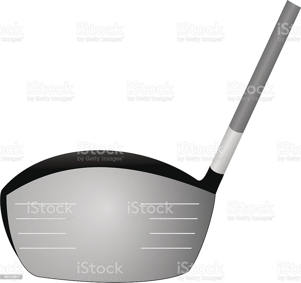 Golf Driver Vector royalty-free stock vector art