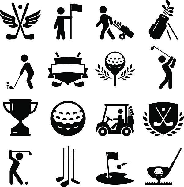 ゴルフのアイコン-ブラックシリーズ - ゴルフ点のイラスト素材/クリップアート素材/マンガ素材/アイコン素材