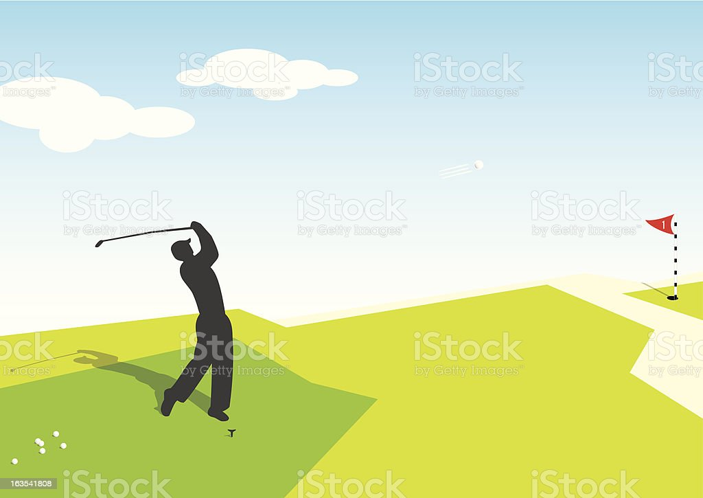 Golf Player royalty-free stock vector art
