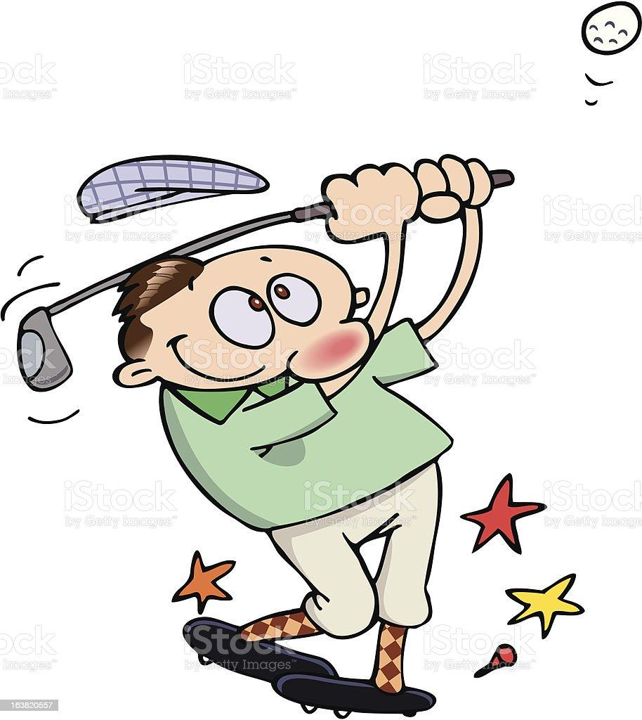 Golfspieler Die Schaukel Stock Vektor Art Und Mehr Bilder Von Comic