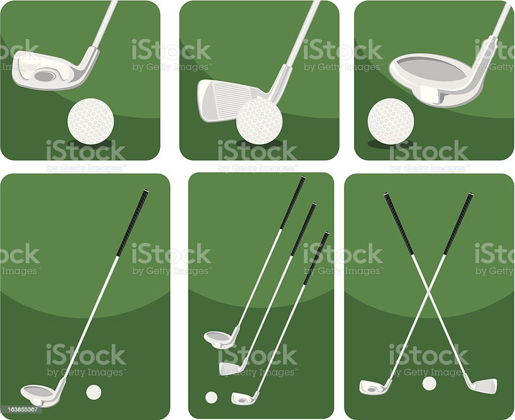 golf putters royalty-free stock vector art