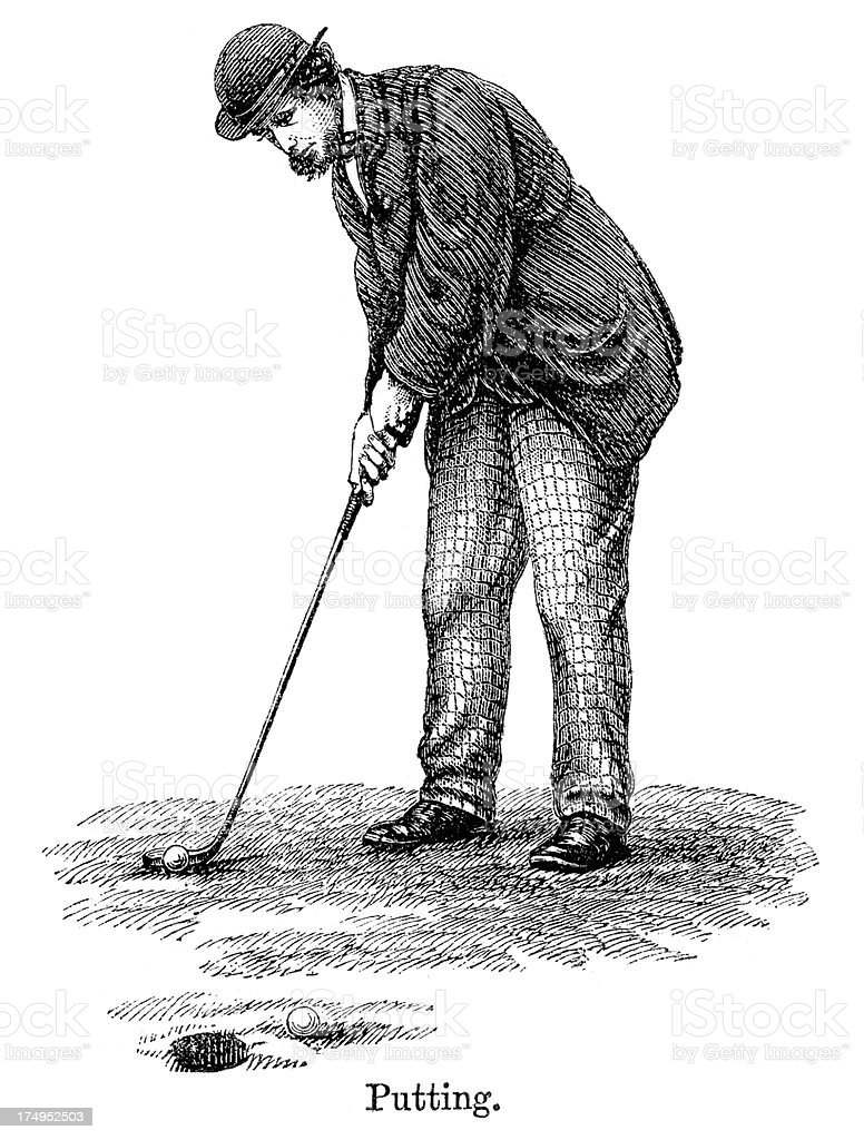 Golf - Putting royalty-free stock vector art