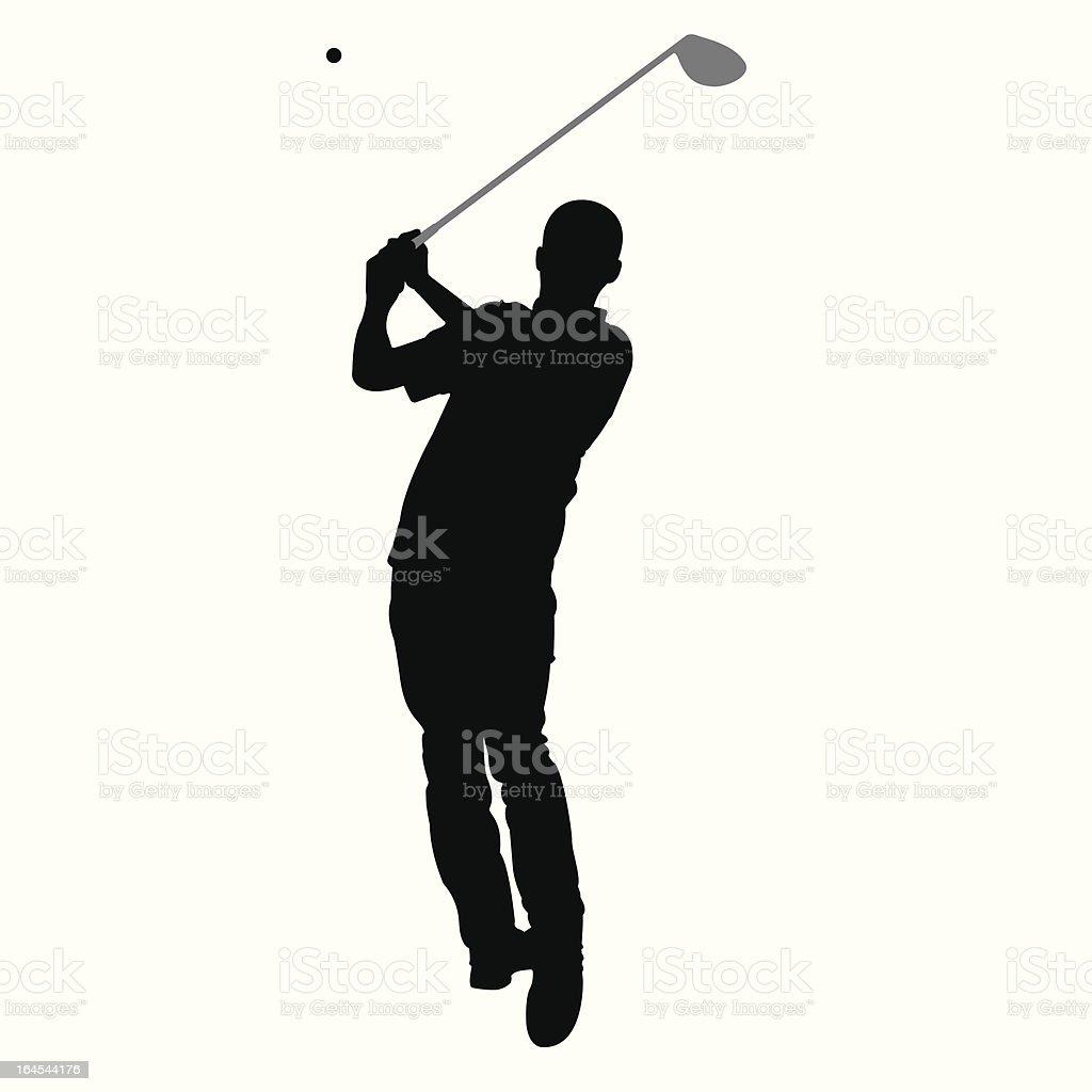 Golf Smackdown royalty-free stock vector art