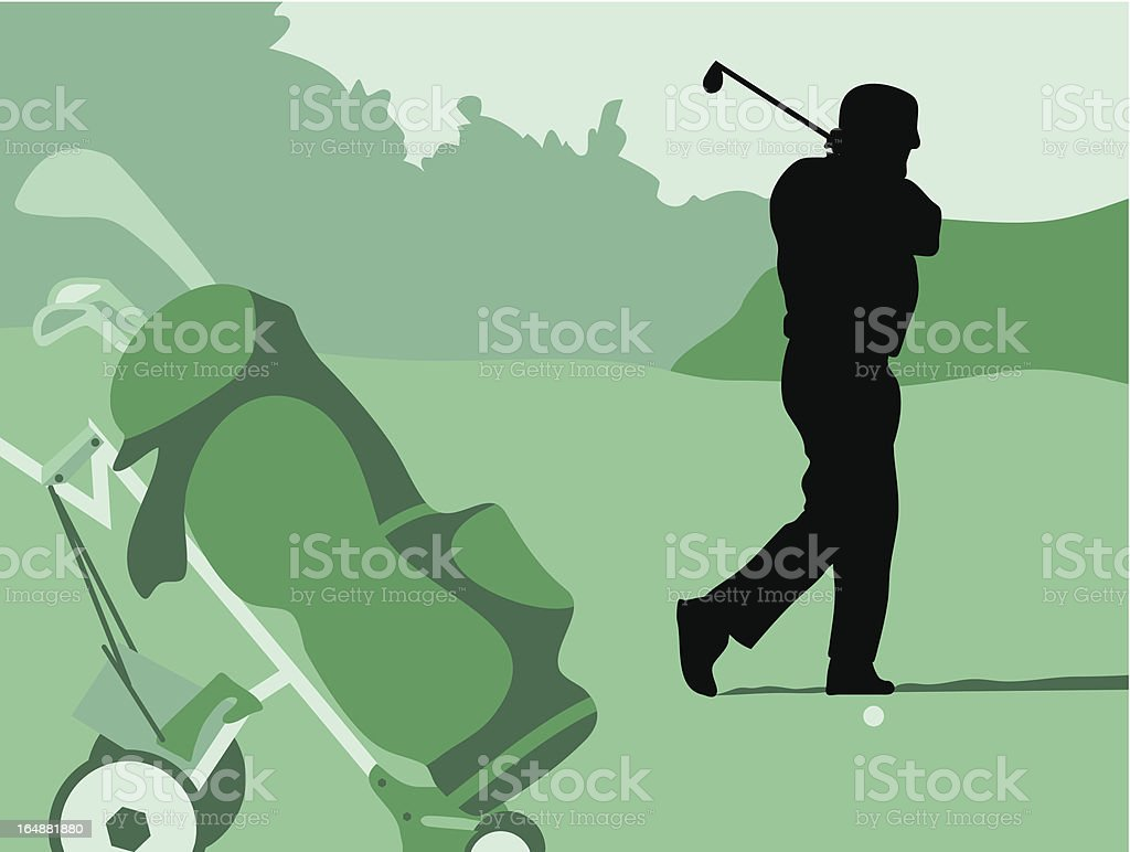Golf Swing royalty-free golf swing stock vector art & more images of adult