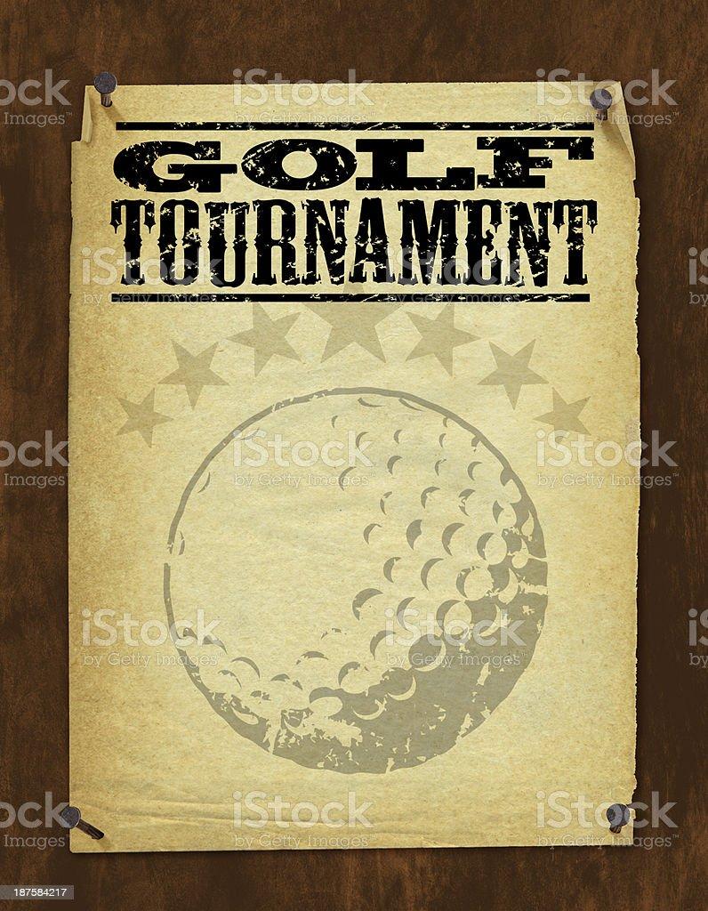 Golf Tournament Poster - Retro Background royalty-free stock vector art