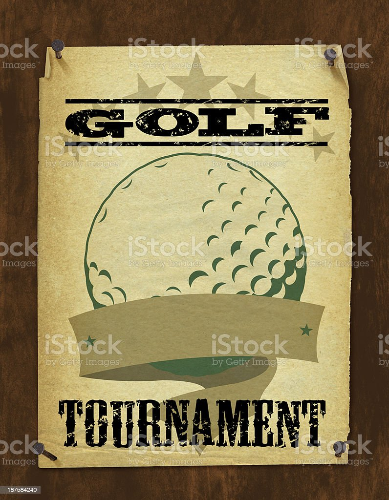 Golf Tournament Poster - Retro Background royalty-free golf tournament poster retro background stock vector art & more images of all star