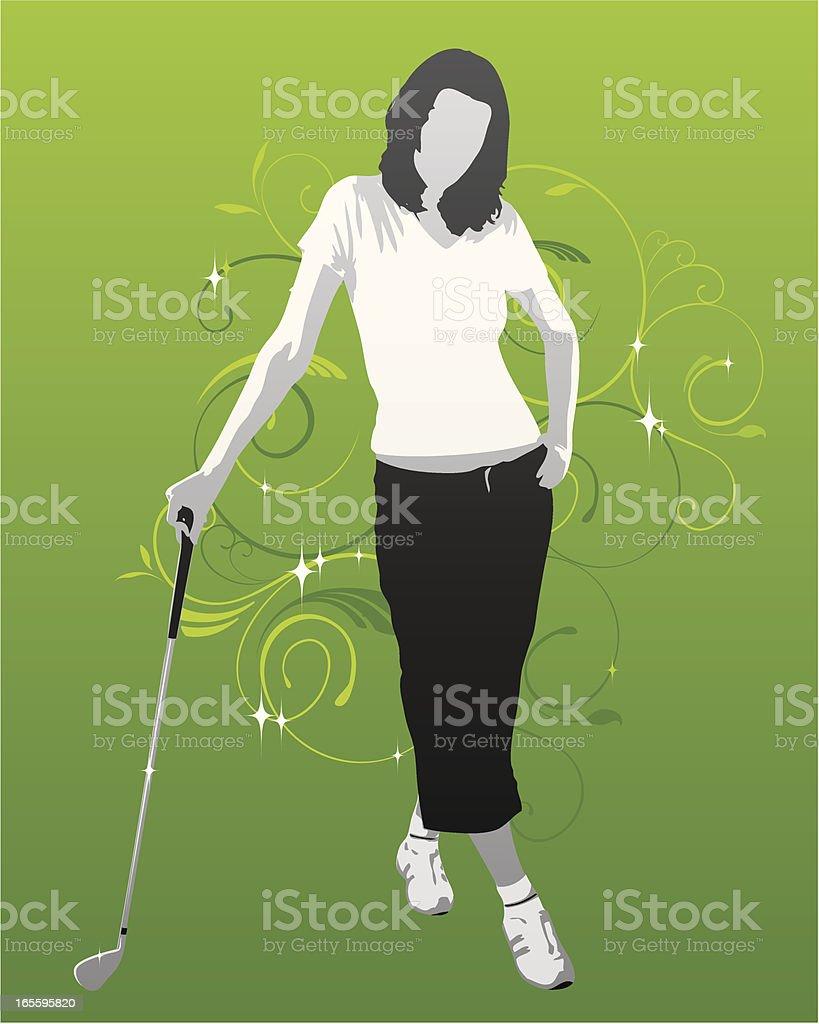 Garota de golfe ilustração de garota de golfe e mais banco de imagens de adulto royalty-free
