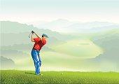 Golfer on the Tee