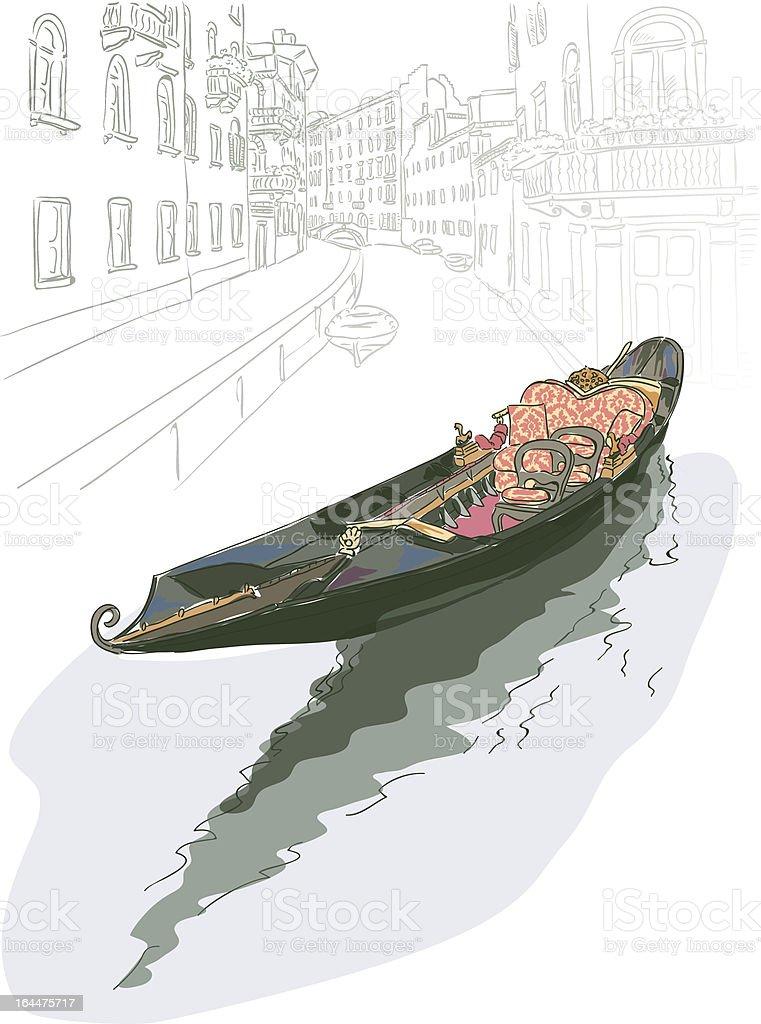 Gondola. royalty-free stock vector art