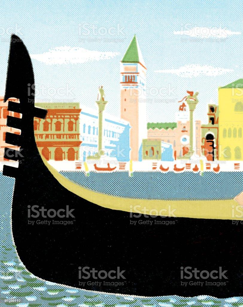 Gondola royalty-free stock vector art