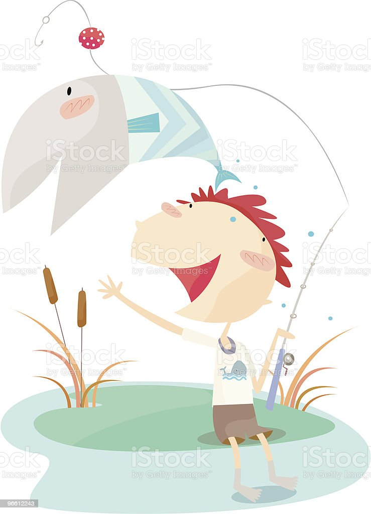 gone fishing - Royalty-free Achievement stock vector