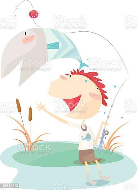 Gone Fishing-vektorgrafik och fler bilder på Barn