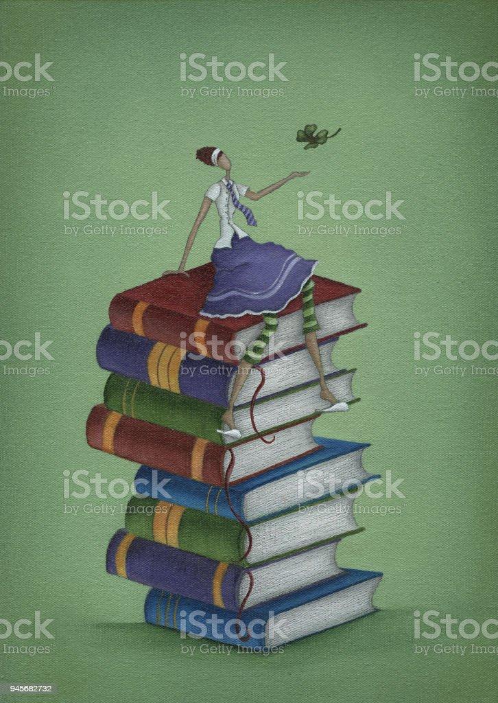 Ilustración De Buena Suerte En Tu Examen Y Más Vectores Libres De