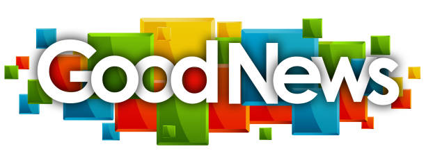 good news good news word in rectangles background good news stock illustrations