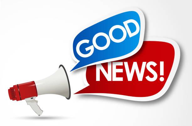 good news good news good news stock illustrations