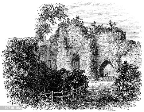 istock Goodrich Castle Ruins in Goodrich, England - 19th Century 1197191963