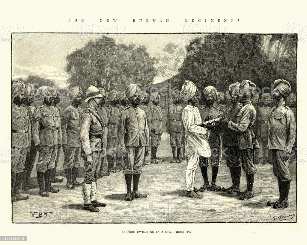 グールーは1891年イギリスのインド軍にシークの救出を誓う - 1890 ...