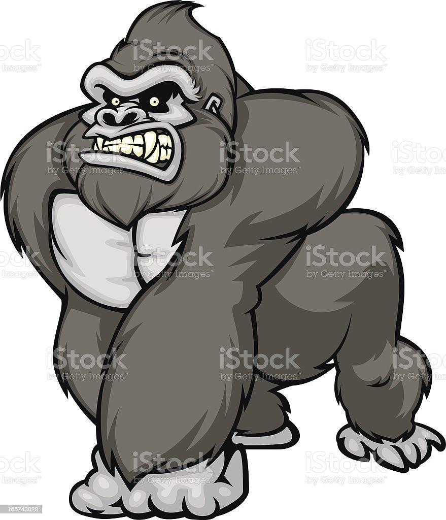 gorilla vector art illustration