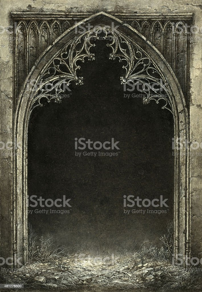 Gothic arch vector art illustration