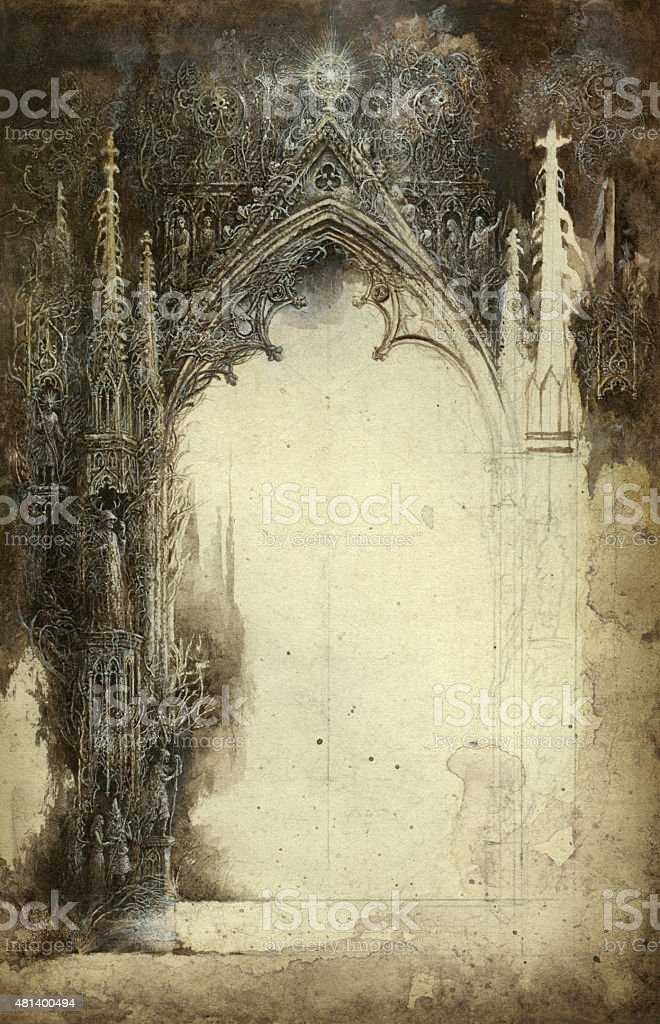 Gothic fantasy vector art illustration