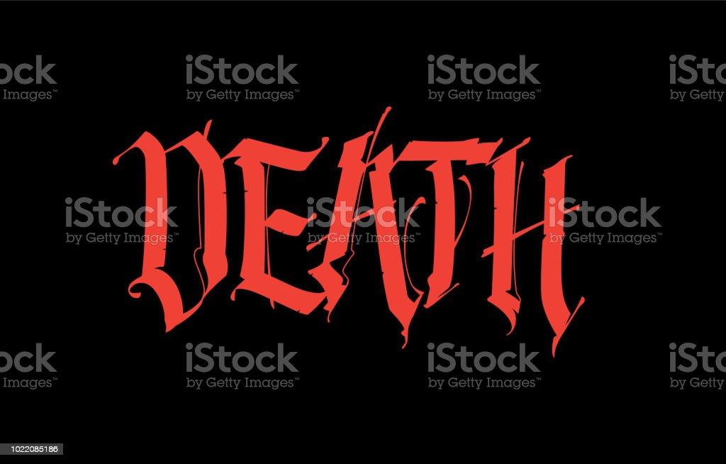 Inscription Gothique Mort Polices Pour Le Tatouage Lexpression Est