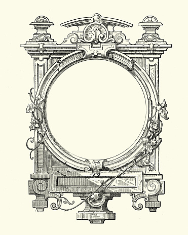 Vintage engraving of a Gothic style frame