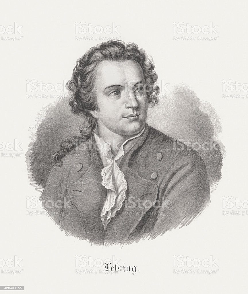 Gotthold Ephraim Lessing (1729-1781), German poet, lithograph, published 1852 royalty-free gotthold ephraim lessing german poet lithograph published 1852 stock vector art & more images of author