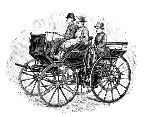 Gottlieb Damiler motor carriage, forerunner of the car
