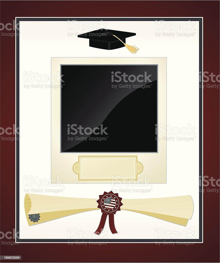 Graduation Frame vector art illustration