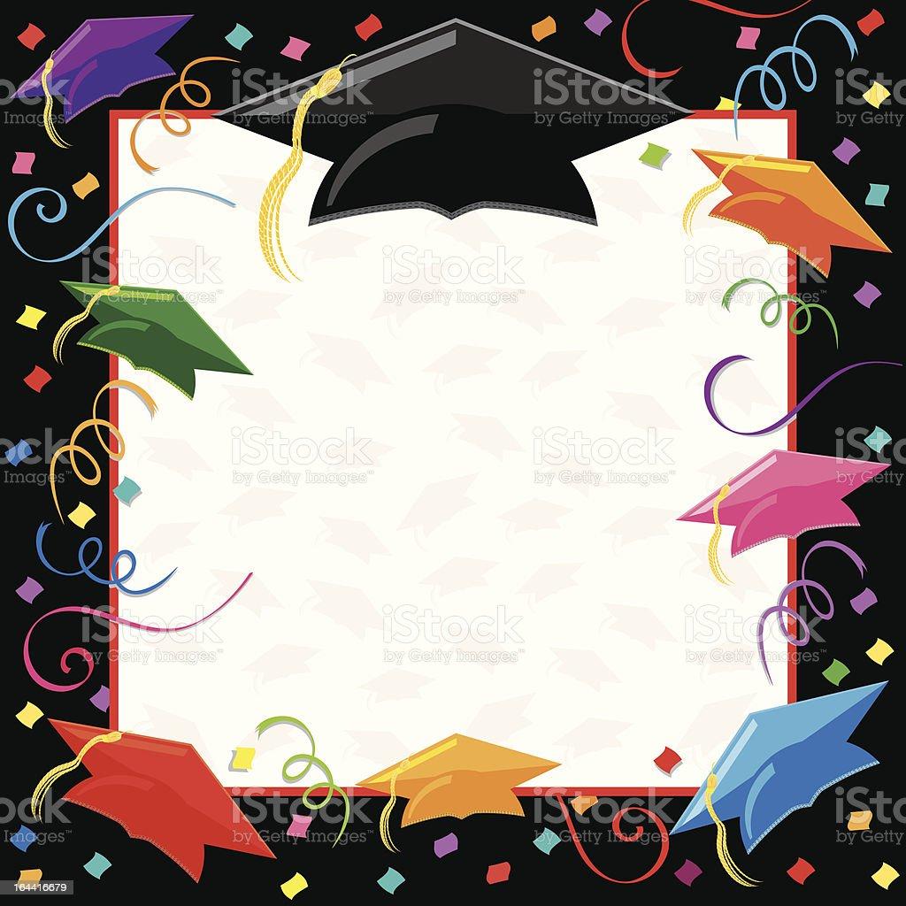 Graduation Party Invitation royalty-free stock vector art