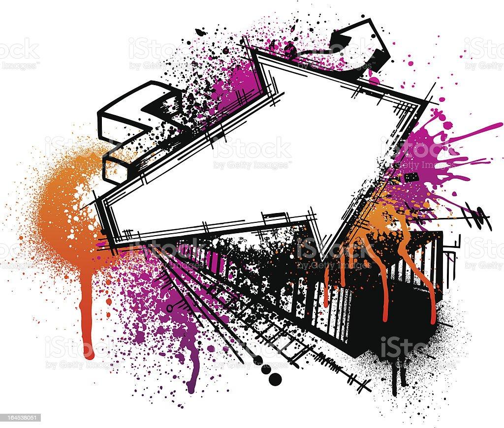 Fondo de Graffiti flecha - ilustración de arte vectorial