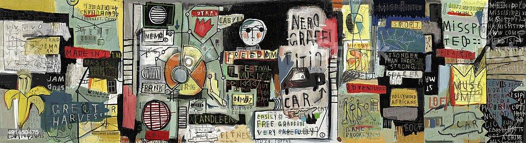 Graffiti vector art illustration