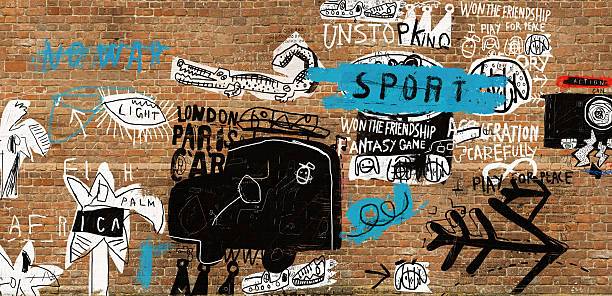 graffiti - graffiti backgrounds stock illustrations, clip art, cartoons, & icons