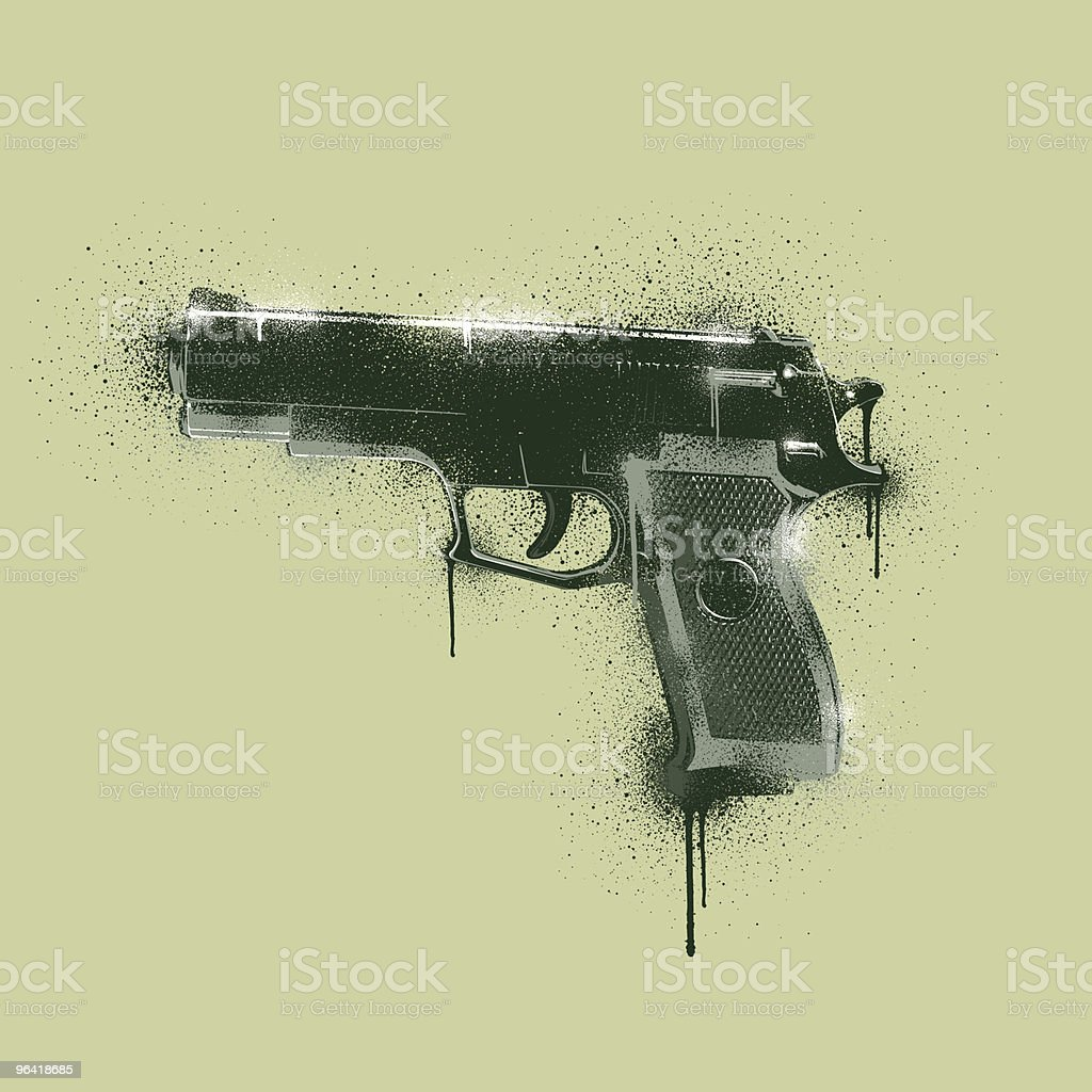 Graffiti Stencil - Homicide royalty-free stock vector art