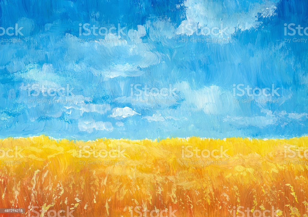 Grain Field vector art illustration